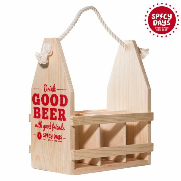 Drvena nosiljka za pivo 2