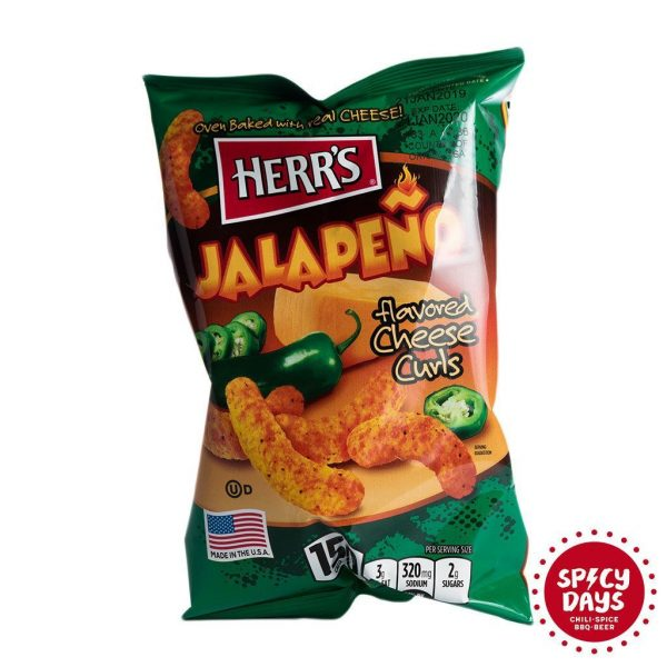 Herr's Jalapeno Poppers Cheesy Curls grickalice 28,4g 2