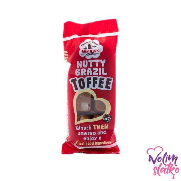 Walker's nonsuch Nutty Brazil Toffee bars 50g 1