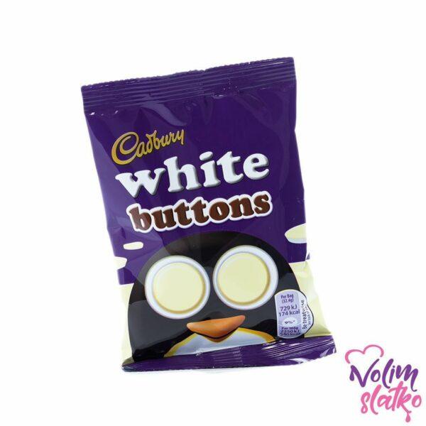 Cadbury Dairy Milk White chocolate buttons bag 32g 3