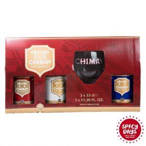 Chimay poklon paket Trilogy 3x0,33l + čaša 5