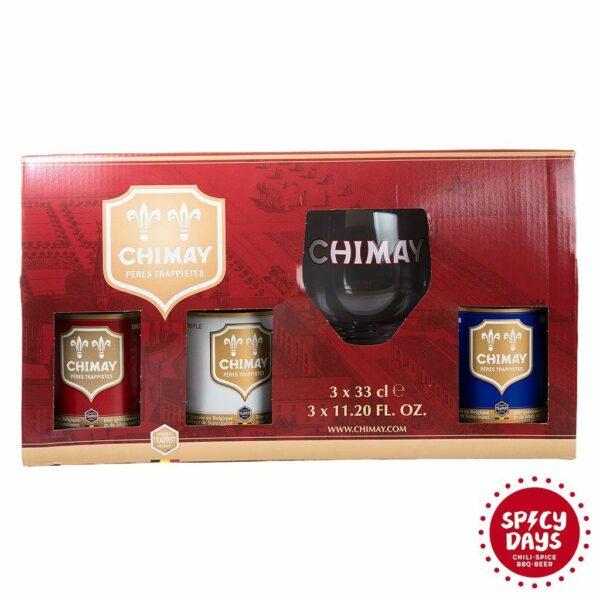Chimay poklon paket Trilogy 3x0,33l + čaša 3