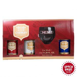 Chimay poklon paket Trilogy 3x0,33l + čaša 4