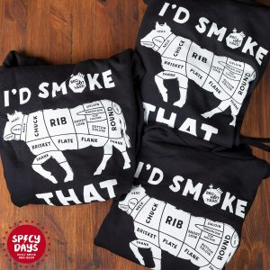 I'd Smoke That majica s kapuljačom (hoodie) 4