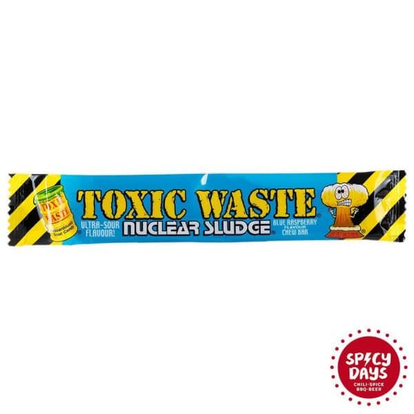 Toxic Waste Nuclear Sludge Blue raspberry flavour chew bar 20g 1