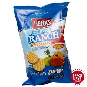 Herr's Ranch & Habanero čips 184,3g 3