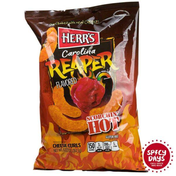 Herr's Carolina Reaper Flavoured Cheese Curls 184,3g 1