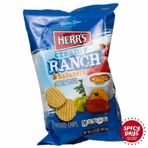 Herr's Ranch & Habanero čips 184,3g 1