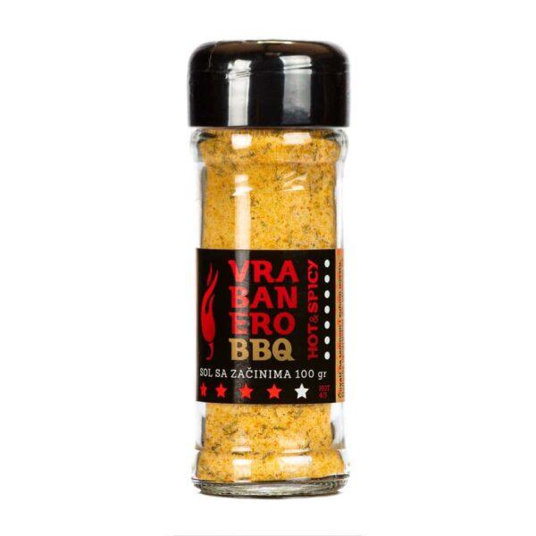 Vrabanero BBQ sol Hot Spicy 100g 1