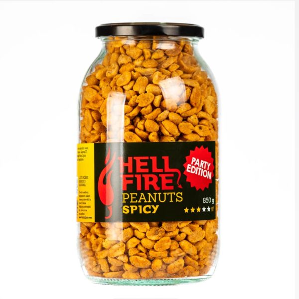 Hellfire Peanuts Spicy Party edition ljuti kikiriki 850g 1
