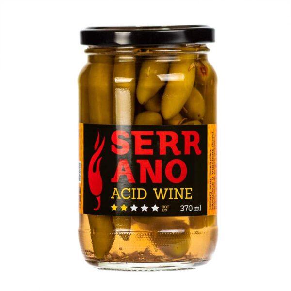 Serrano Acid Wine ukiseljene papričice 370ml 1