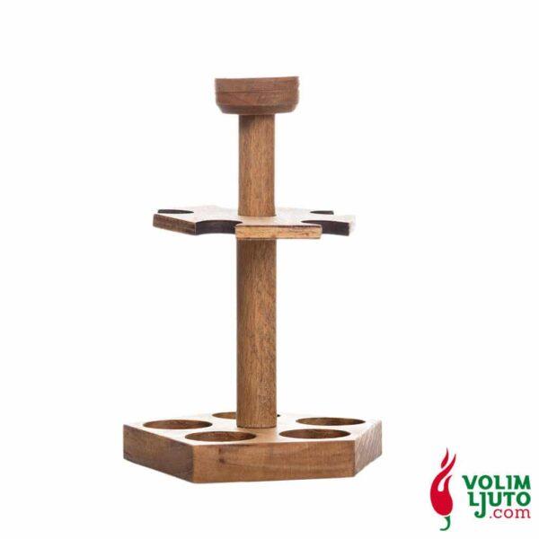 Drveni stalak s 5 ljutih umaka 20ml 4