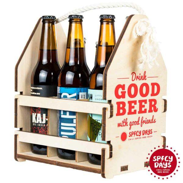 Drvena nosiljka za pivo 1