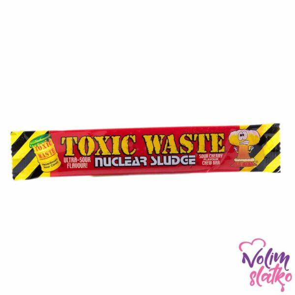 Toxic Waste Nuclear Sludge Sour cherry flavour chew bar 20g 1