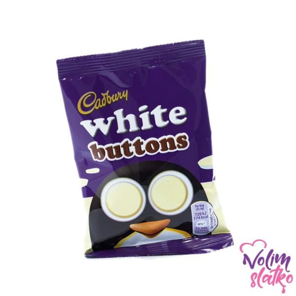Cadbury Dairy Milk White chocolate buttons bag 32g 1