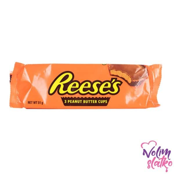 Reeses 3 Peanut Butter Cups 51g 1