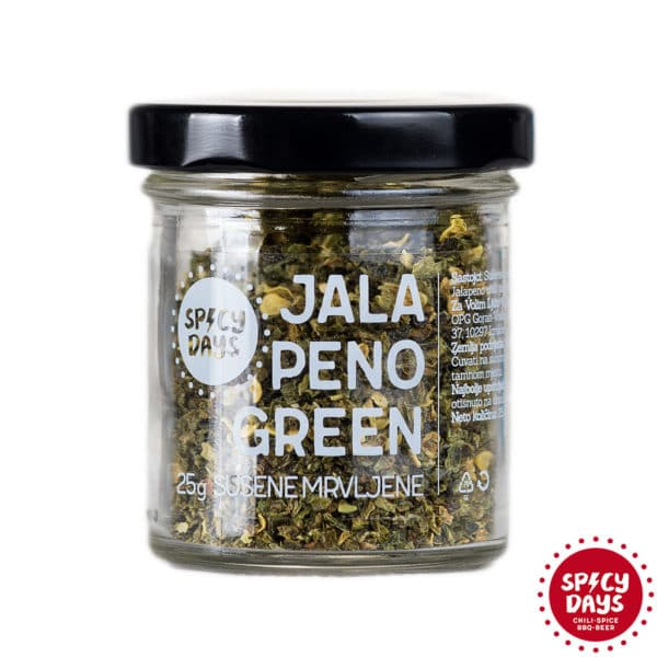 Jalapeno Green sušene mrvljene chili papričice 25g 1