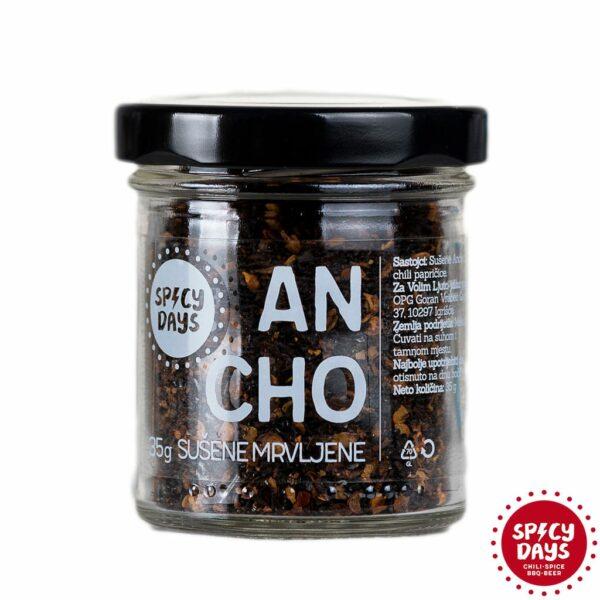 Ancho sušene mrvljene chili papričice 35g 1