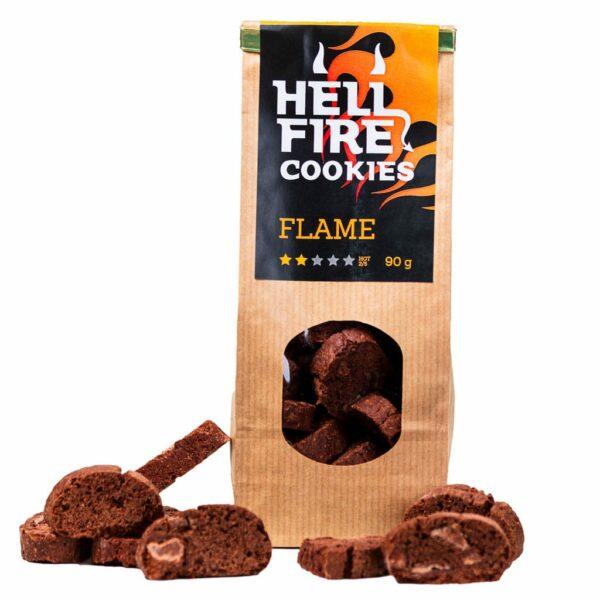 Hellfire Cookies Flame 90g - ljuti čokoladni keksi 1