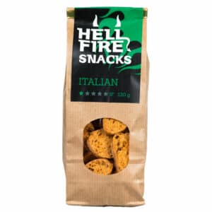 Hellfire Snacks Italian 130g - ljuti slani keksi